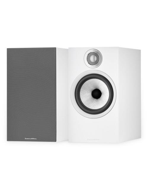 diffusori acustici da pavimento per hifi e home theater, coppia Bowers & Wilkins 606 Anniversary Edition, finitura Bianco