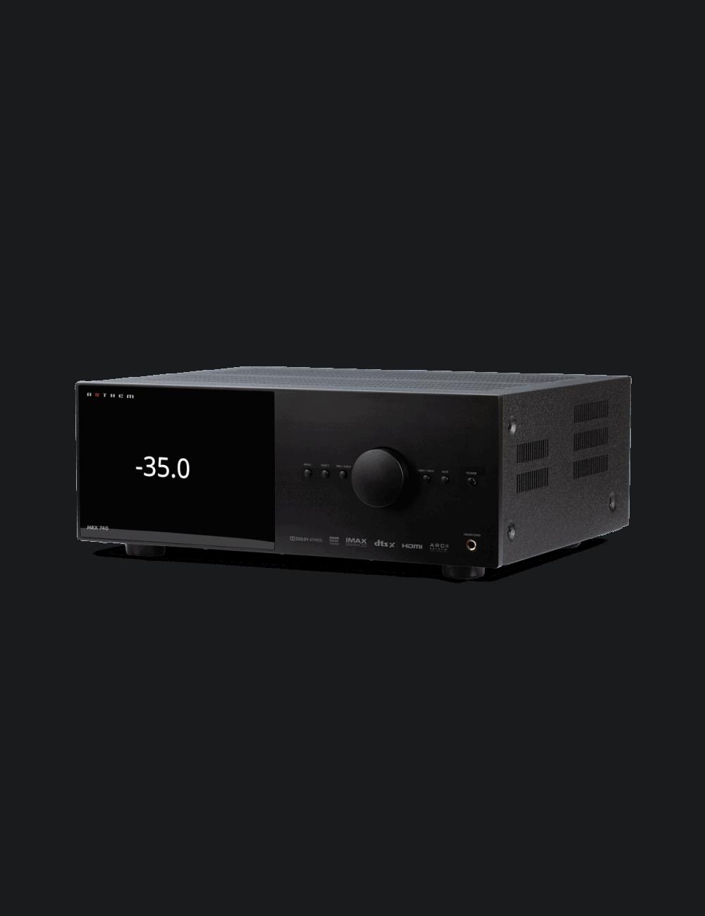 amplificatore audio video integrato,  Anthem MRX740, 7 canali da 140W per canale, uscite preamplificate fino a 15.2