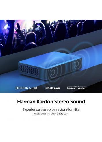 proiettore laser a tiro ultracorto home cinema 4K HDR, Vava 4K UST Laser TV, audio Harman Kardon