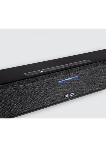soundbar wireless super compatta, Denon Home Sound Bar 550, Dolby ATMOS e DTS: X, Heos, Bluetooth, finitura tessuto nero