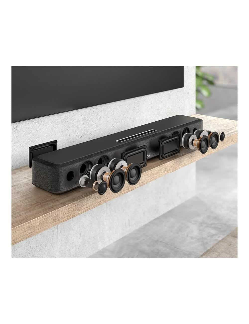 soundbar wireless super compatta, Denon Home Sound Bar 550, Dolby ATMOS e DTS: X, Heos, Bluetooth, costruzione