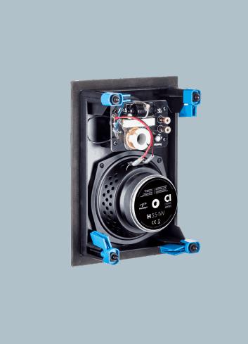 diffusore acustico da incasso a parete o a soffitto, Paradigm CI HOME H55-IW, vista posteriore