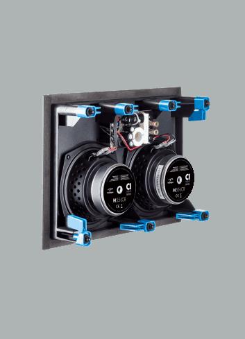 diffusore acustico da incasso a parete o a soffitto LCR, Paradigm CI HOME H55-LCR, vista posteriore