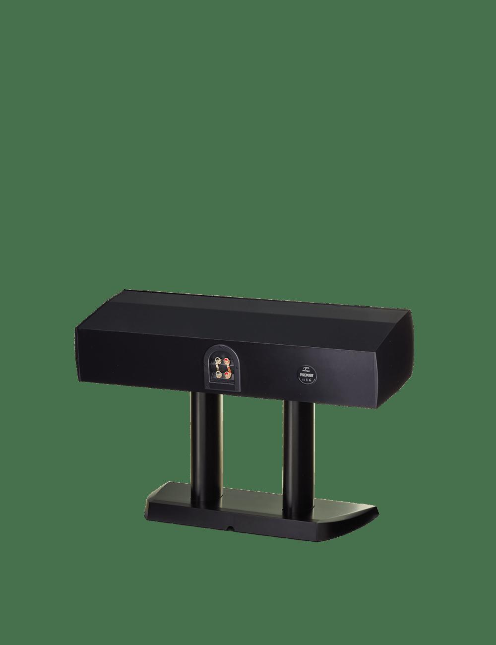 diffusore acustico per canale centrale da stand per hifi e home theater, Paradigm Premier 500C black gloss, retro