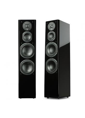 diffusori acustici da pavimento per hifi e home theater, SVS Prime Tower, 4 driver, 3 vie e mezzo, finitura black gloss