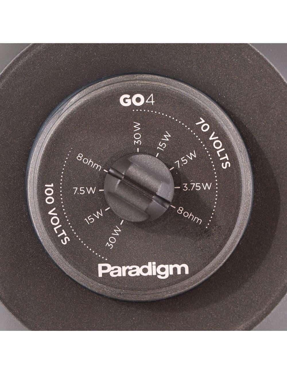 diffusore acustico HiFi da esterno resistente all'acqua,  Paradigm GO4, selettore