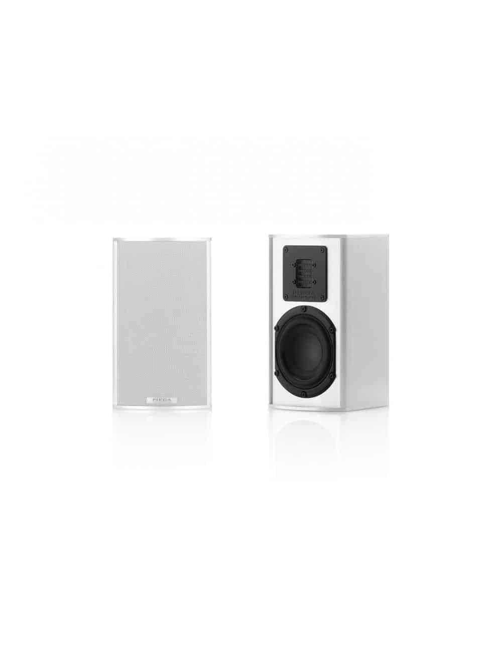 diffusori acustici HiFi e Home Theater da scaffale o da stand, Piega TMicro 40 AMT, finitura aluminium silver