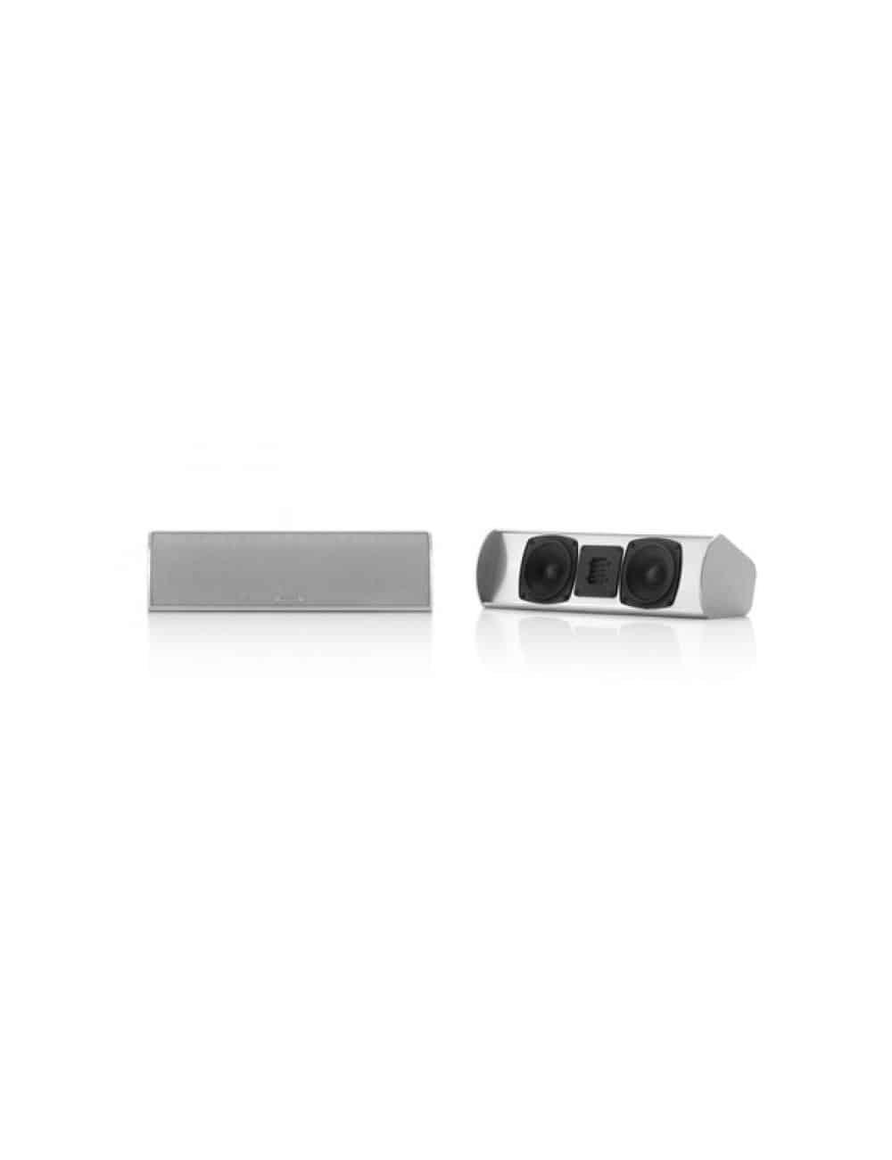 diffusore acustico canale centrale per Home Theater, Piega TMicro Center AMT, finitura aluminium silver