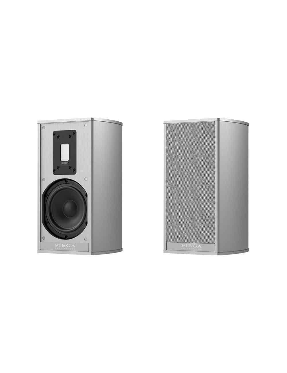 diffusori acustici amplificati wireless HiFi, Piega Premium Wireless 301, finitura aluminium silver
