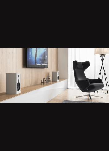 diffusori acustici amplificati wireless HiFi, Piega Premium Wireless 301, finitura aluminium silver lifestyle