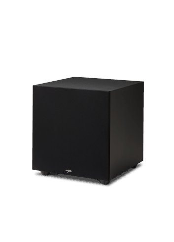 subwoofer amplificato Paradigm Defiance X12, HiFi e Home Theater, finitura satin black, griglia