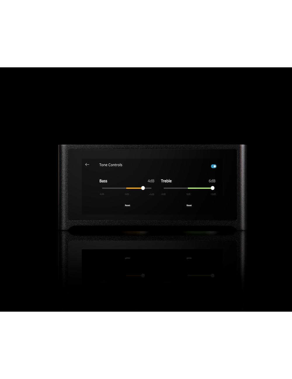 amplificatore integrato streaming HiFi, NAD M10, serie Masters, display controllo toni