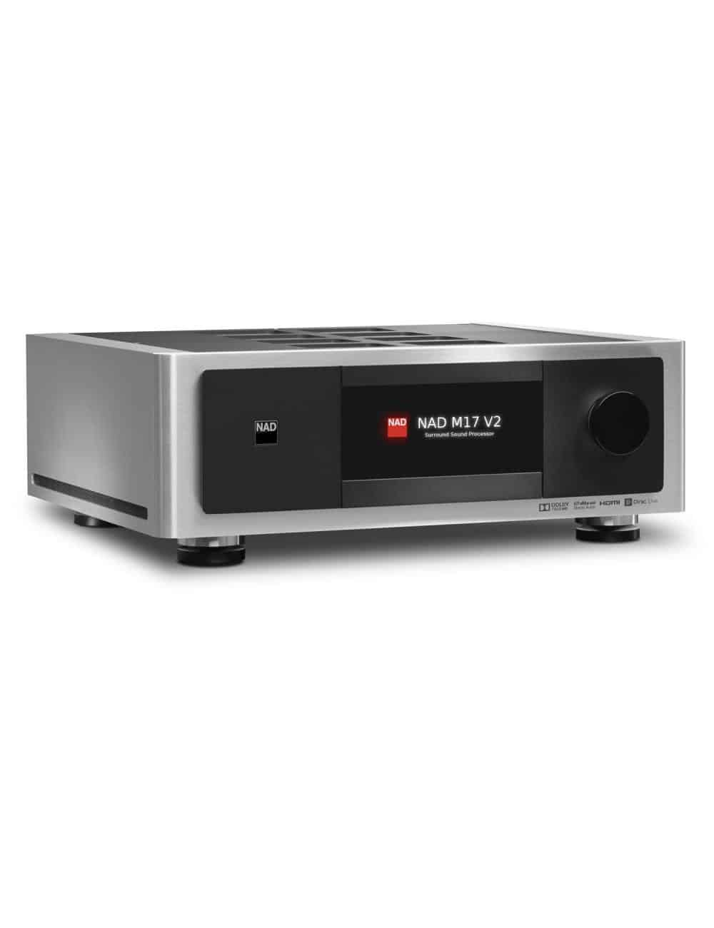 preamplificatore audio video multicanale, NAD M17 v2, serie Masters, vista frontale