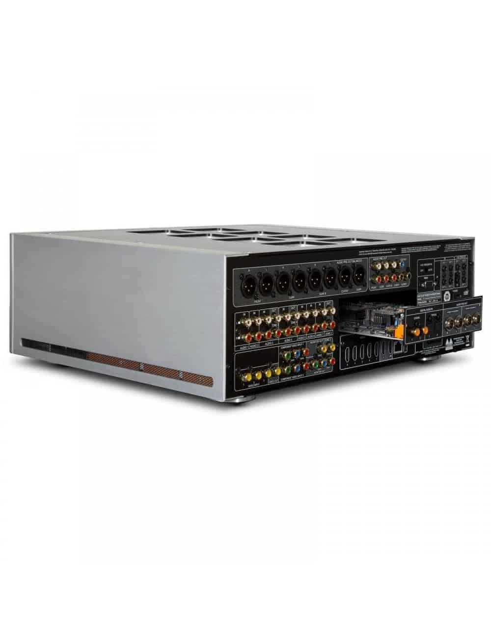 preamplificatore audio video multicanale, NAD M17 v2, serie Masters, vista posteriore modulo