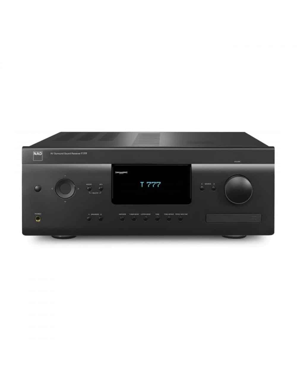 sintoamplificatore audio video multicanale, NAD T 777 v3, vista frontale