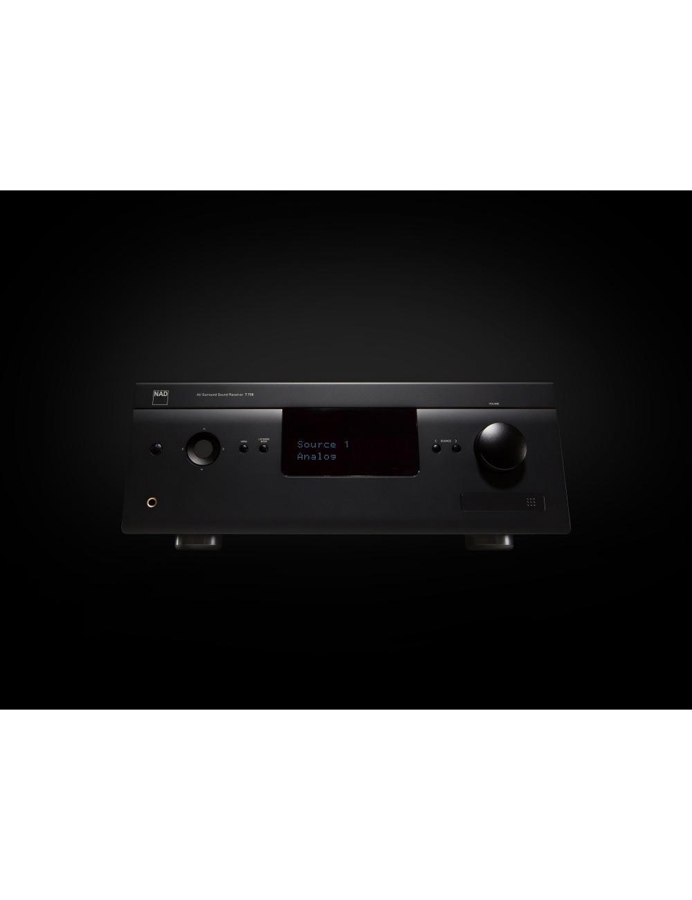 sintoamplificatore audio video multicanale, NAD T 758 v3, vista frontale