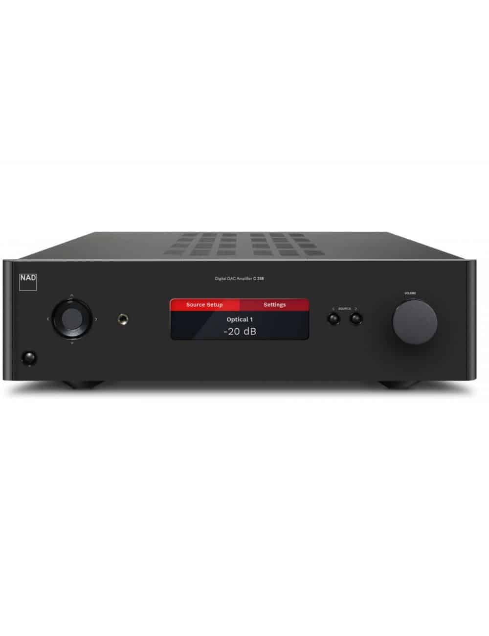 amplificatore HiFi, NAD C 388 Hybrid Digital DAC Amplifier, vista frontale