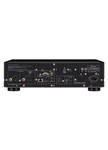 lettore universale di dischi UHD BD, BD, DVD e CD per HiFi ed Home Cinema, Pioneer UDP-LX800, vista pannello connessioni