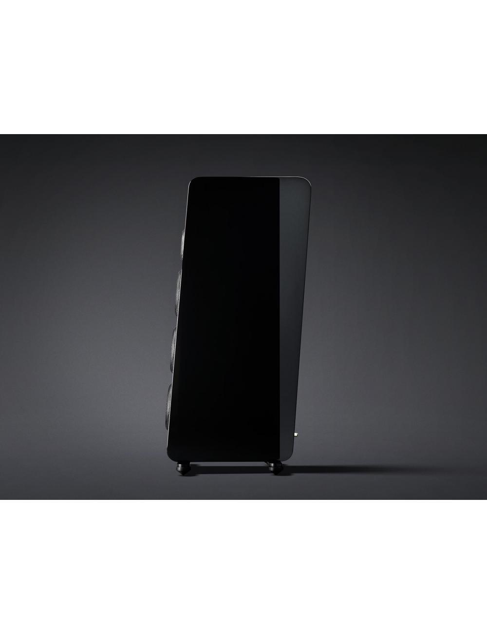 diffusori acustici da pavimento per hifi, Marten Django L, finitura black gloss, vista laterale