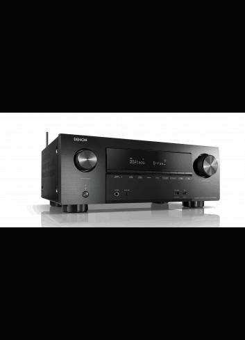 Sintoamplificatore AV 7.2 canali 4K Ultra HD con Audio 3D e HEOS, Denon AVR-X2600H, vista frontale destra