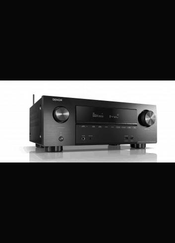 Sintoamplificatore AV 7.2 canali 4K Ultra HD con Audio 3D e HEOS, Denon AVR-X2600H DAB, vista frontale destra