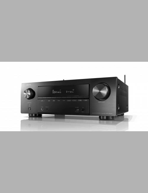 Sintoamplificatore AV 7.2 canali 4K Ultra HD con Audio 3D e HEOS, Denon AVR-X1600H, vista frontale