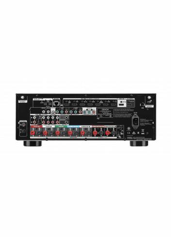 Sintoamplificatore AV Denon AVR-S950H, 7.2 canali con upscaling 4K Ultra-HD, vista posteriore pannello connessioni