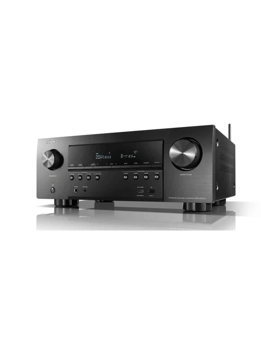 Sintoamplificatore AV Denon AVR-S950H, 7.2 canali ad alta potenza con upscaling 4K Ultra-HD e Controllo Vocale, vista frontale