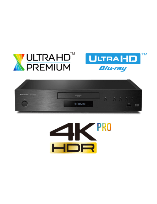 lettore Blu-ray 4K UHD HDR per HiFi e Home Cinema, Panasonic DP UB9000, vista frontale