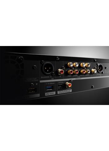 lettore Blu-ray 4K UHD HDR per HiFi e Home Cinema, Panasonic DP UB9000, vista posteriore connessioni