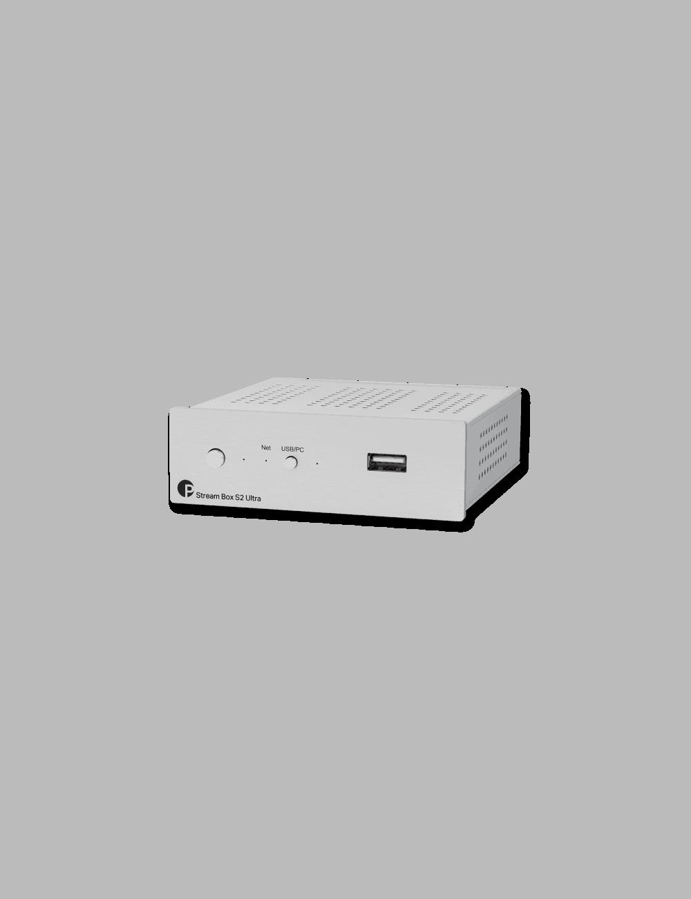 Streamer musicale di rete ad alta risoluzione HiFi, Pro-Ject Stream Box S2 Ultra, vista frontale