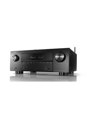 Sintoamplificatore AV 9.2 canali 4K Ultra HD con Audio 3D e HEOS, Denon AVR-X3600H, vista frontale