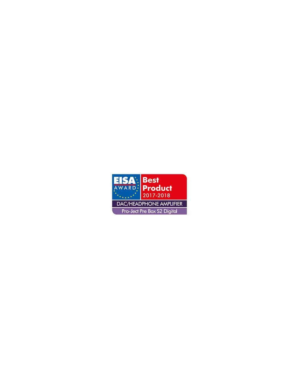 Preamplificatore digitale con convertitore D/A ESS9038, amplificatore per cuffia, Pro-Ject Pre Box S2 Digital, EISA 2017