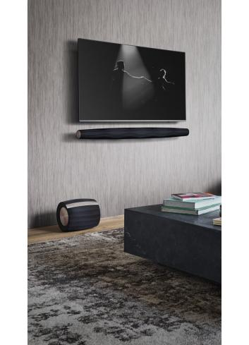 soundbar amplificata wireless per home cinema ad alta fedeltà,  Bowers & Wilkins Formation Bar, vista in ambiente