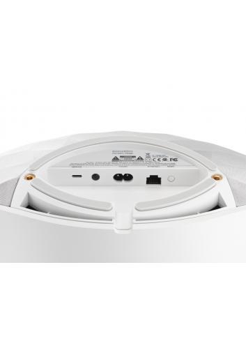 diffusore amplificato HiFi wireless stereo,  Bowers & Wilkins Formation Wedge, vista connessioni, finitura Silver