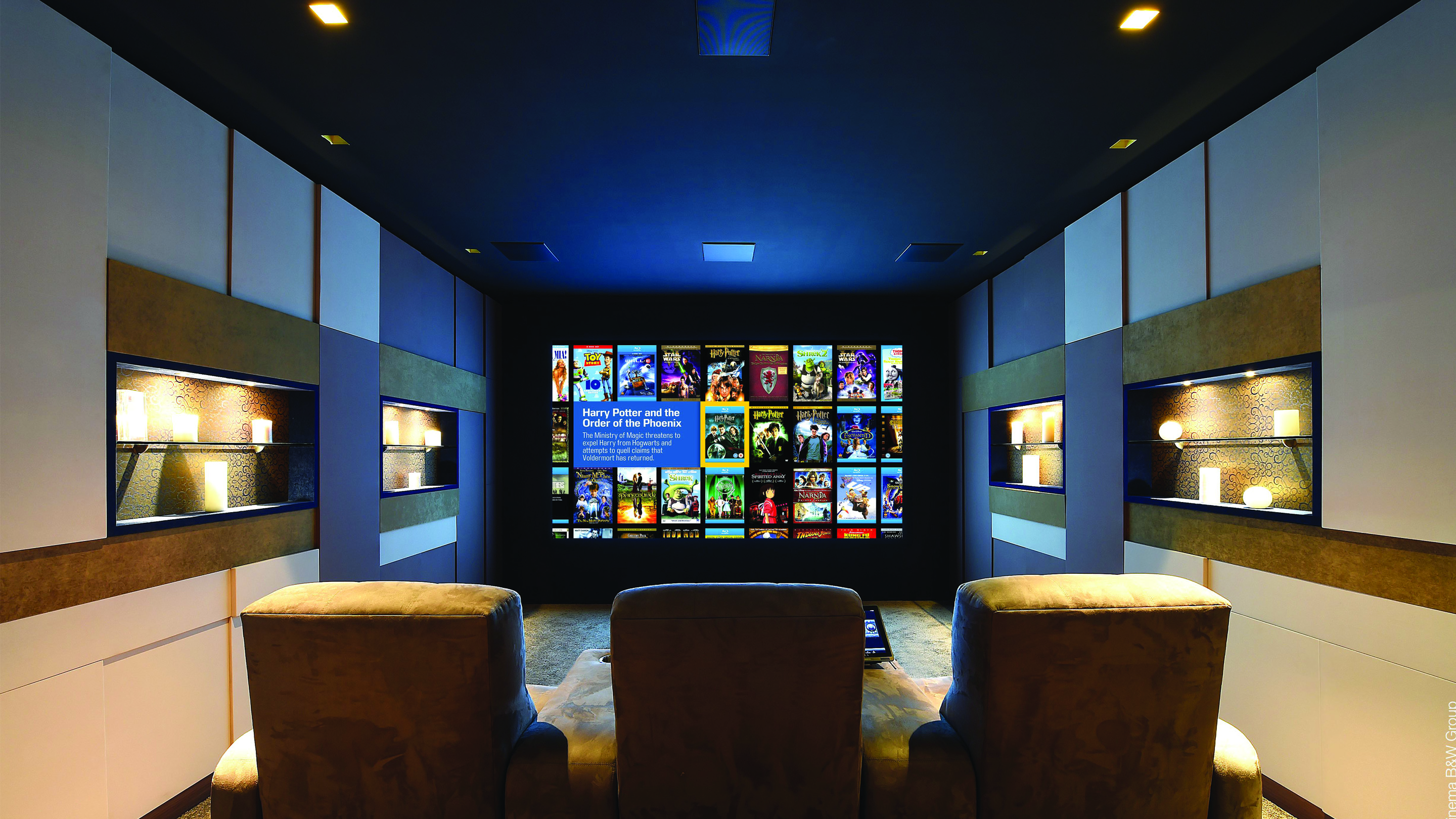 Diffusori da incasso a soffitto, home cinema domestico