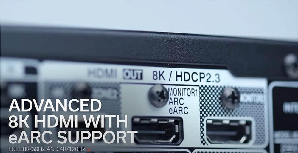 AVC-X6700H pannello posteriore connessioni hdmi 8K