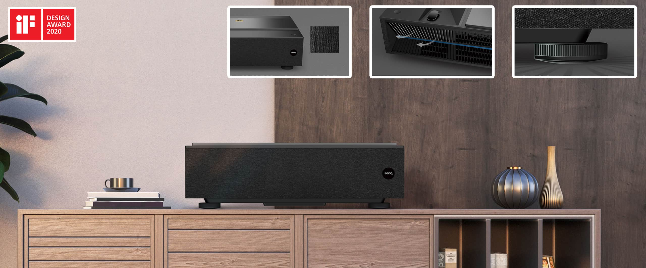 Proiettore Home Cinema a tiro ultra corto laser, BenQ V6000